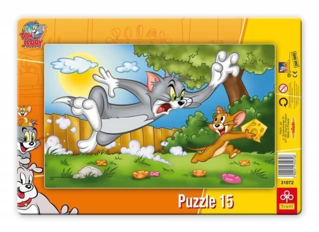 TREFL Puzzle Tom a Jerry: Velký sýr 15 dílků