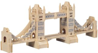 3D dřevěné puzzle Tower Bridge P055
