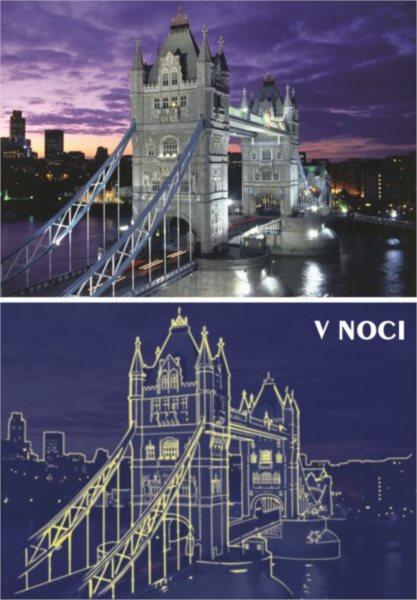 Svítící puzzle DINO 1000 dílků - Tower Bridge, Londýn