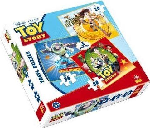 Puzzle pro děti 3v1 TREFL - Toy Story: Příběh hraček 20,36,50 dílků