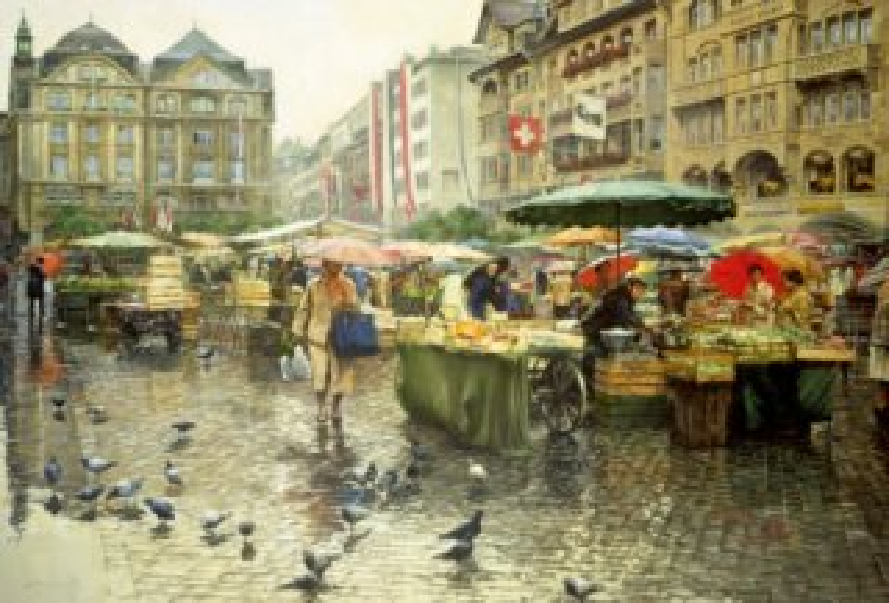 EDUCA 16024 Trhy v Basileji - puzzle 6000 dílků, Clark Hulings