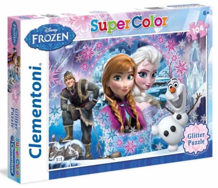 Dětské puzzle 104 dílků - Ledové království: Královna(glitter)