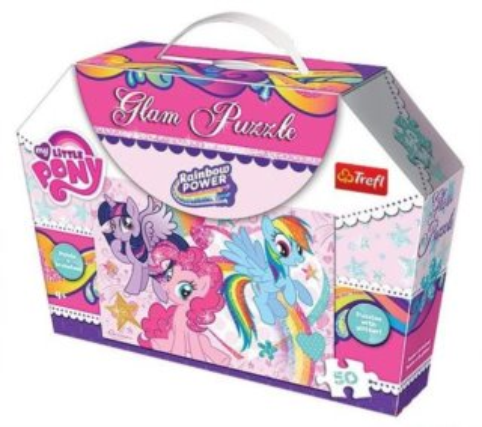 TREFL Třpytivé puzzle My Little Pony: Síla duhy 50 dílků