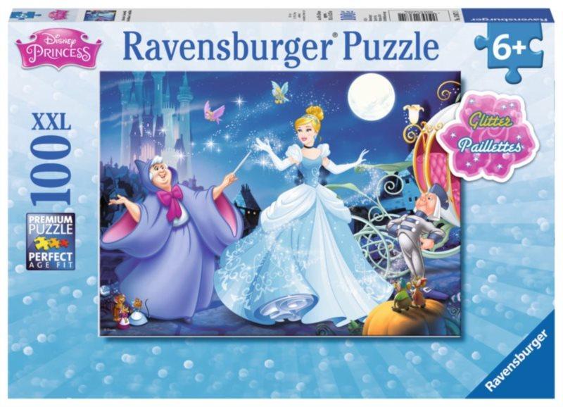 RAVENSBURGER Třpytivé puzzle Popelka XXL 100 dílků
