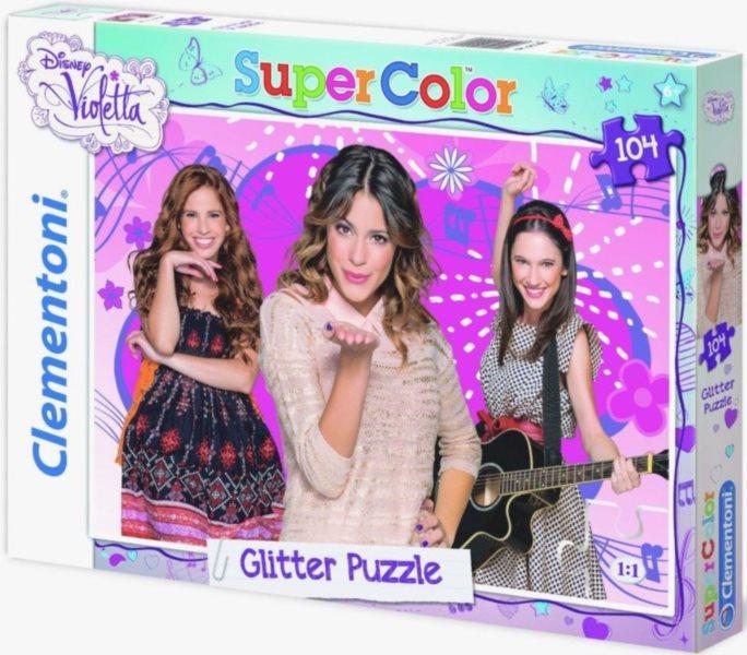 CLEMENTONI Třpytivé puzzle Violetta 104 dílků