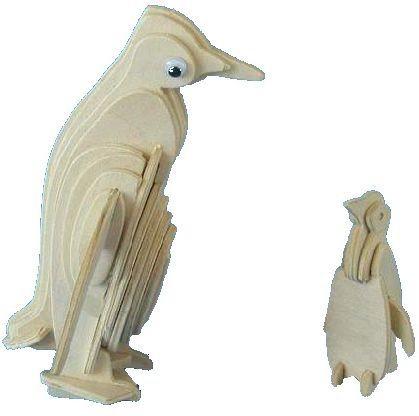 WOODEN TOY , WCK 3D puzzle Tučňáci