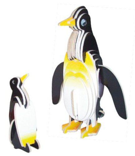 WOODEN TOY , WCK 3D puzzle Tučňáci barevní