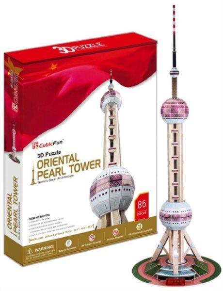 CUBICFUN 3D puzzle TV věž (Oriental Pearl Tower) 86 dílků