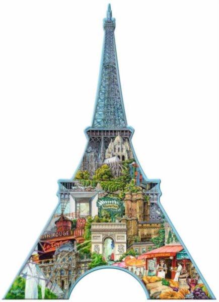 RAVENSBURGER Tvarové puzzle Eiffelova věž 960 dílků