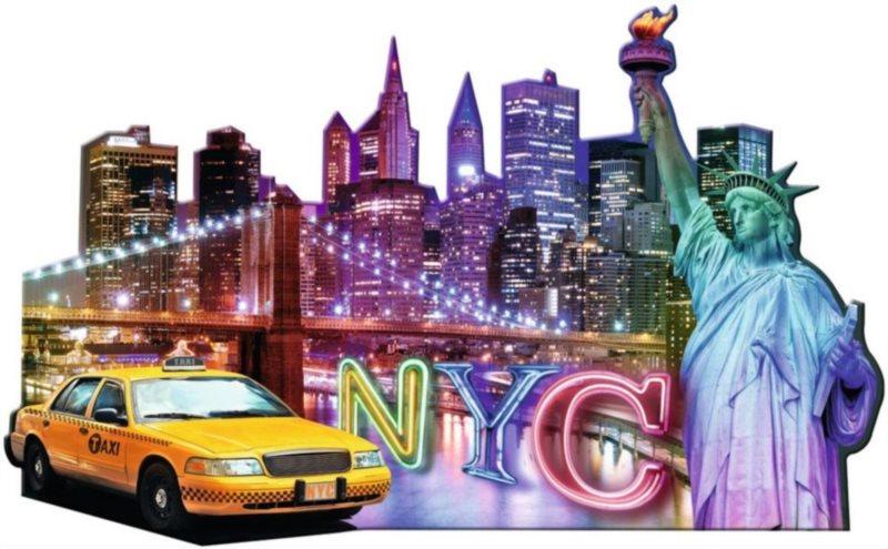 Tvarové puzzle RAVENSBURGER New York, USA 1158 dílků