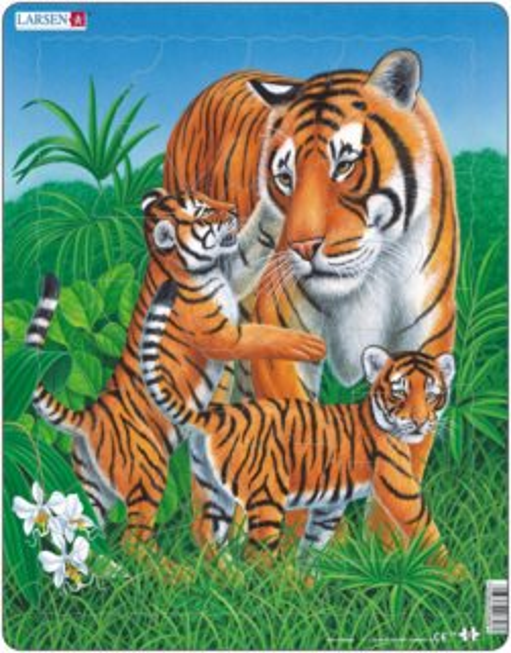 Deskové puzzle LARSEN 23 dílků - Tygři