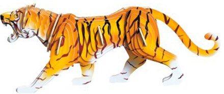 WOODEN TOY , WCK 3D puzzle Tygr barevný