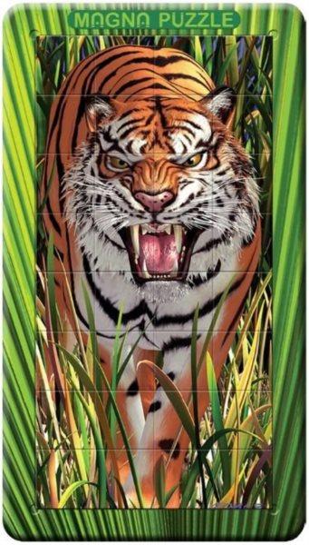 Piatnik 3D magnetické puzzle Tygr 32 dílků