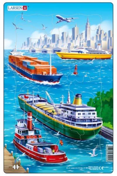 LARSEN Puzzle U moře: Lodní doprava 22 dílků