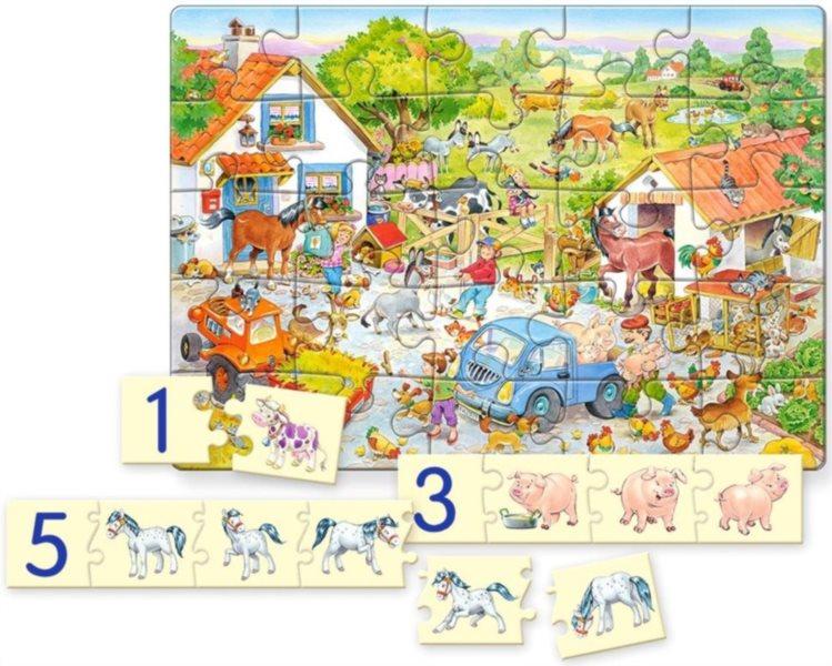 CASTORLAND Puzzle Život na farmě 25 dílků + skládačka