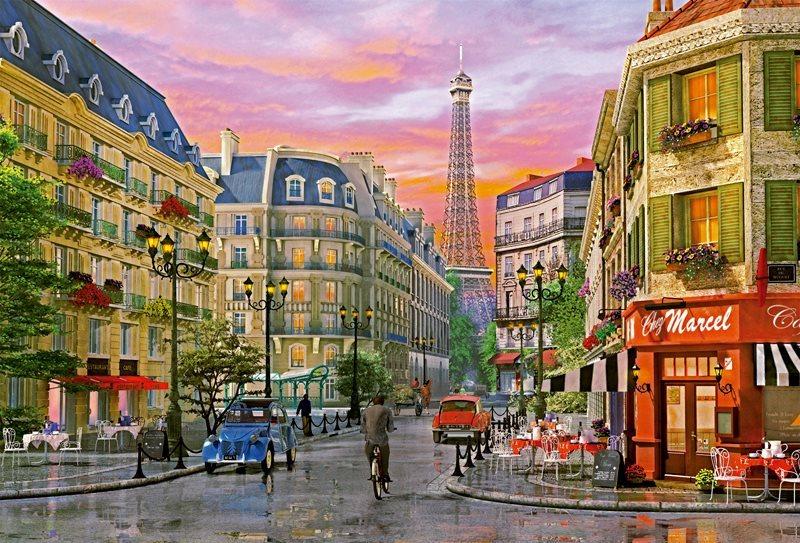 poškozený obal: EDUCA 16022 Ulice v Paříži - puzzle 5000 dílků, D.Davison