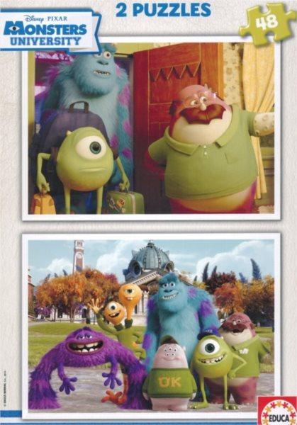 Dětské puzzle EDUCA - Univerzita pro příšerky 2x48 dílků