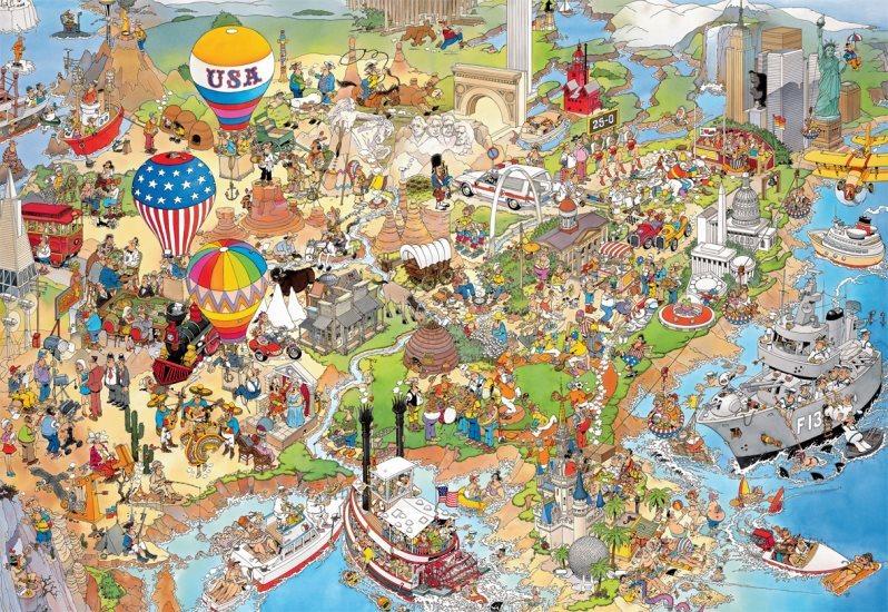 JUMBO 17316 USA, Haasteren - puzzle 5000 dílků