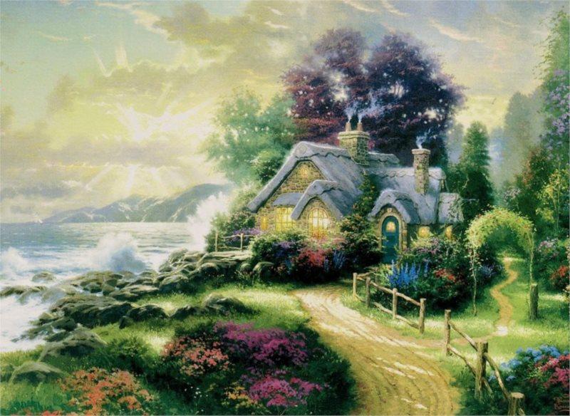 Puzzle SCHMIDT 1000 dílků - Thomas Kinkade, Úsvit nového dne
