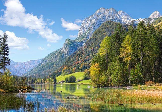 Puzzle CASTORLAND 3000 dílků - Útočiště pod Alpami