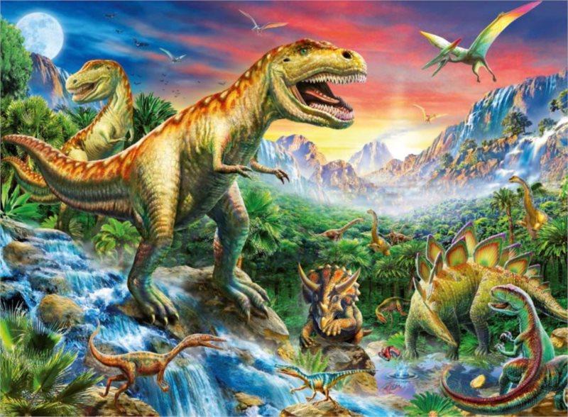 RAVENSBURGER Puzzle V dobách dinosaurů XXL 100 dílků