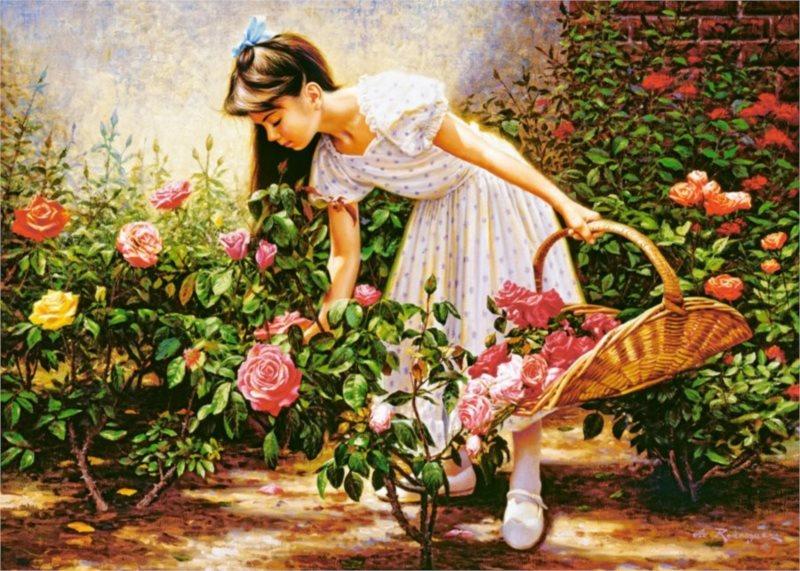 CASTORLAND Puzzle V růžové zahradě 1000 dílků