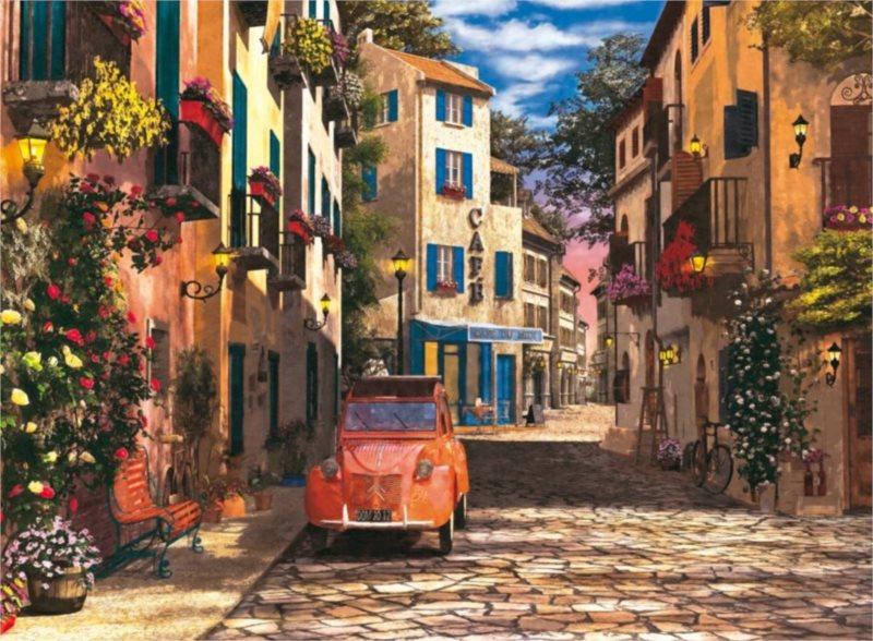 RAVENSBURGER Puzzle V srdci Jižní Francie 500 dílků