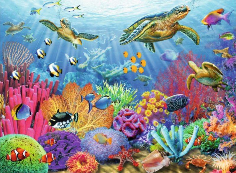 RAVENSBURGER Puzzle V tropických vodách 500 dílků
