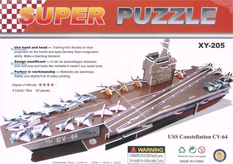 3D puzzle - Válečná loď CV-64 3D