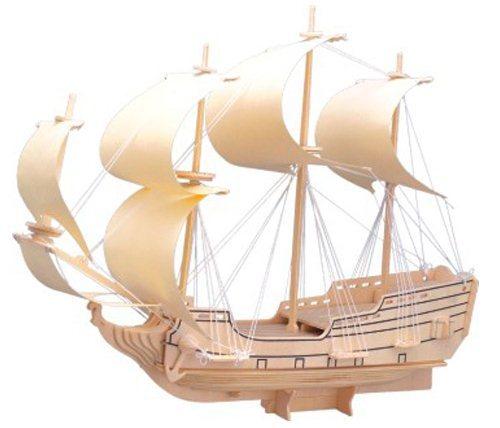 WOODEN TOY , WCK 3D puzzle Válečná loď - plachetnice Orel 3D