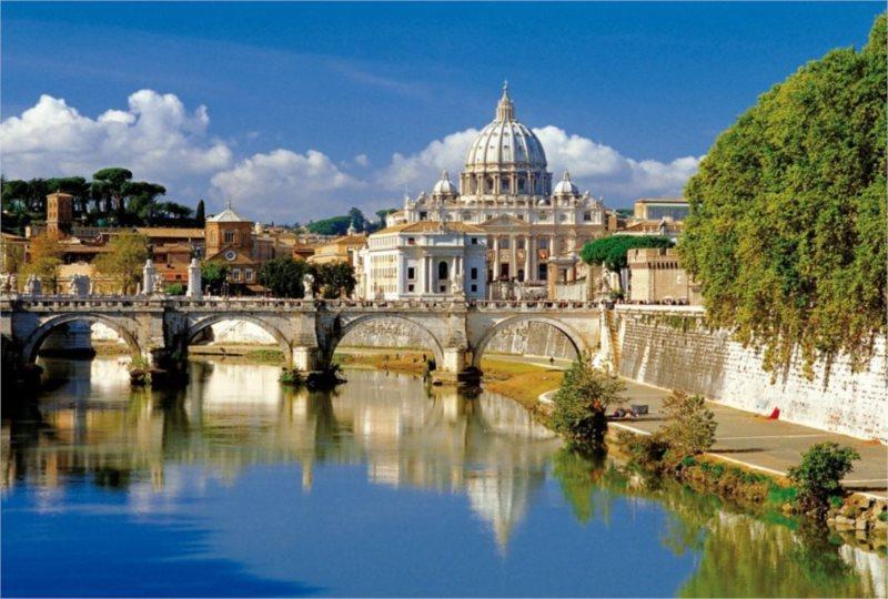 Puzzle TREFL 500 dílků - Vatikán, Řím, Itálie
