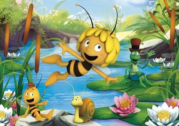 CLEMENTONI Puzzle Včelka Mája: Hledání štěstí 60 dílků