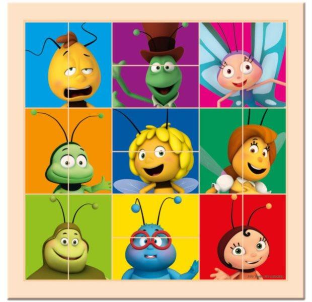 BINO Dřevěné puzzle dvojice Včelka Mája - hlavičky