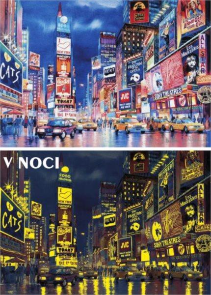 Svítící puzzle CLEMENTONI 1000 dílků - Večerní New York