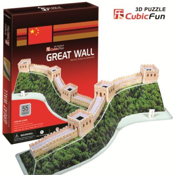 CUBICFUN 3D puzzle Velká čínská zeď 55 dílků