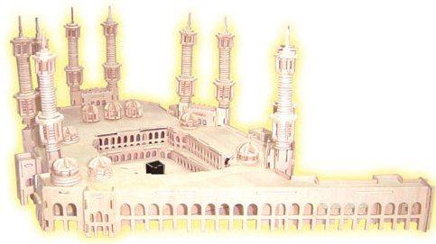 WOODEN TOY , WCK 3D puzzle Velká mešita, Mekka