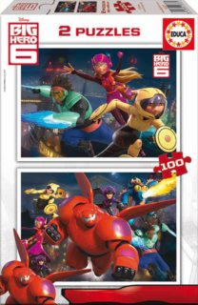 EDUCA 16337 Velká šestka - puzzle 2x100 dílků