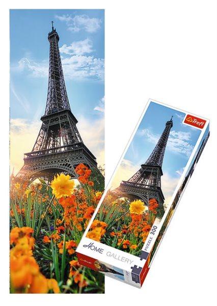 TREFL Vertikální puzzle Eiffelova věž s květinami 300 dílků