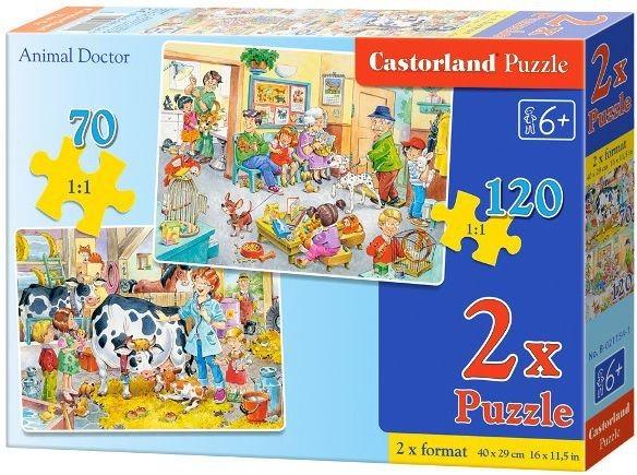 CASTORLAND Puzzle U veterináře 70+120 dílků