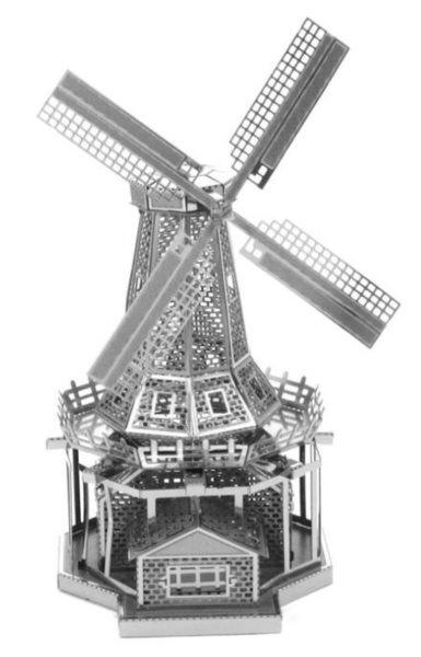 3D kovové puzzle METAL EARTH Větrný mlýn