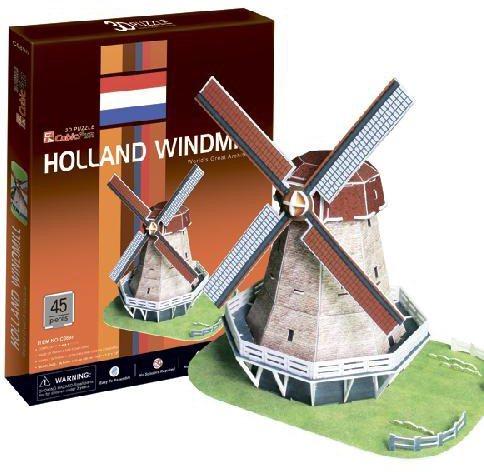 CUBICFUN 3D puzzle Větrný mlýn 45 dílků