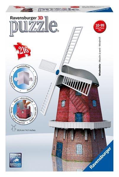 RAVENSBURGER 3D puzzle Větrný mlýn 216 dílků