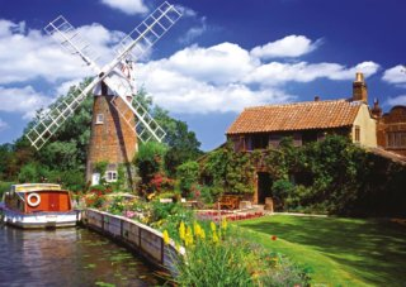 Puzzle RAVENSBURGER 1000 dílků - Větrný mlýn na venkově