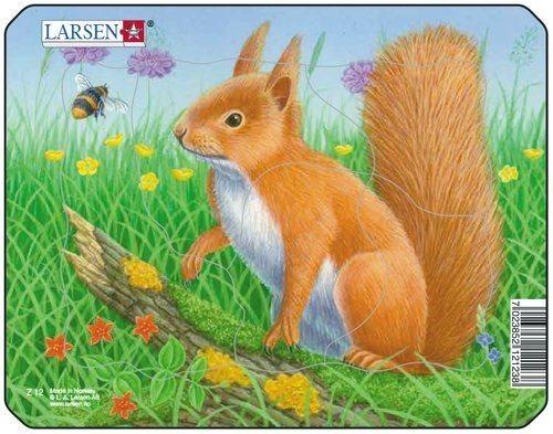 LARSEN Puzzle Veverka v trávě 5 dílků