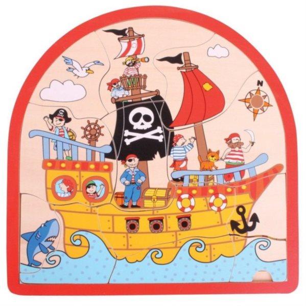 BIGJIGS Vícevrstvé puzzle Piráti