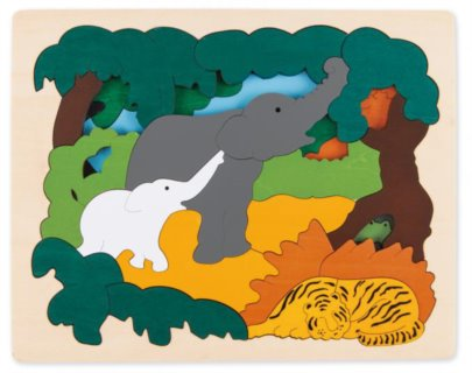HAPE Vícevrstvé puzzle Zvířata z Asie