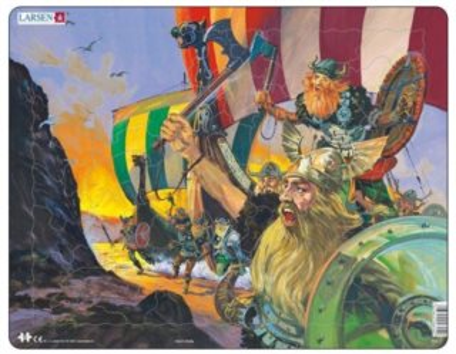 LARSEN Puzzle Vikingové 66 dílků
