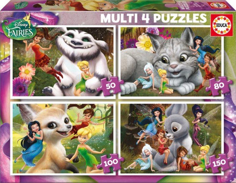 EDUCA 16350 Zvonilka a tvor Netvor 4v1, 50-150 dílků - dětské puzzle