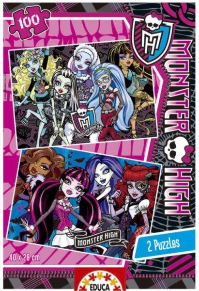EDUCA Puzzle Monster High - příšerky 2x100 dílků