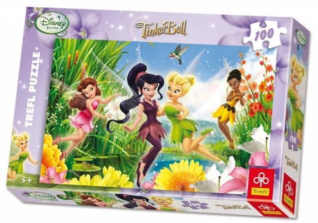 Puzzle pro děti TREFL 100 dílků - Víla Zvonilka: Šťastné víly